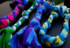 fleece dog toys-make these all the time and my dogs LOVE them! -Check-