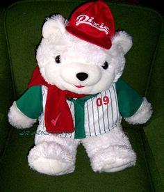 Dan Dee Bear Plush Stuffed Animal 2009 Winn Dixie Collectible Red Multi Color #DanDee