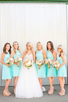 15 Most Incredible Teal Bridesmaid Dresses You Must See | Wedding Dresses Guide Mismatched Bridesmaid Dresses, Blue Bridesmaids, Wedding Bridesmaid Dresses, Tiffany Blue Bridesmaid Dresses, Sequin Bridesmaid, Bride Dresses, Prom Dresses, Dress Wedding, Wedding Shoes