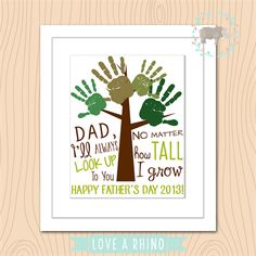 Father's Day Handprint Tree Print/ Gift/ Present/ Dad
