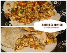 Tired of regular sandwiches?Try out a delicious Bhurji / Burji Sandwich & Wrap . Serve it as a healthy breakfast and you can pack it as lunch for you and your kids.