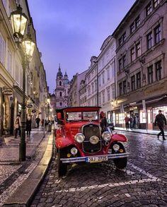 Czech Republic, Prague, Antique Cars, Street View, World, Instagram, Vintage Cars, The World, Bohemia