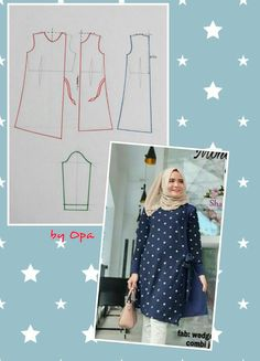 Blouse Patterns, Clothing Patterns, Sewing Patterns, Sewing Tutorials, Sewing Projects, Sewing Crafts, Fashion Sewing, Diy Fashion, Fashion Pattern