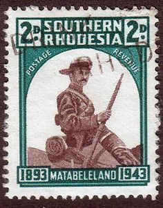Southern Rhodesia 1943 Matabeleland Fine Used SG 61 Scott 64 Other British Commonwealth Stamps here