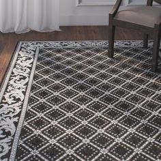 You'll love the Avella Trellis Black Indoor/Outdoor Area Rug at Wayfair - Great Deals on all Rugs products with Free Shipping on most stuff, even the big stuff.