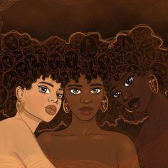 Black Love Art, Black Girl Art, Black Girl Magic, Black Art Painting, Black Artwork, Hair Painting, Arte Black, Black Girl Cartoon, Black Girl Aesthetic