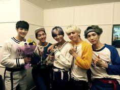SHINee - (Left to right) Minho, Onew, Taemin, Jonghyun, Key