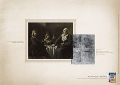 "Read more: https://www.luerzersarchive.com/en/magazine/print-detail/tintas-coral-43105.html Tintas Coral (""Four Figures at a table,"" painted by Frères Le Nain in 1643. – ""Bearded Man,"" picture dicovered beneath the painting ""Four Figures at a table,"" after x-ray analysis.) Tags: Leo Burnett Tailor Made, São Paulo,Tintas Coral,Carla Cancellara,Henrique Del Lama"