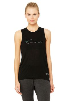 High Low Muscle Tank - Karma | Women's Yoga Tops at ALO Yoga $73