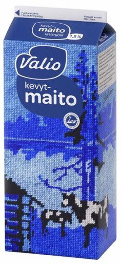 """Designer Milk."" Valio + Ivana Helsinki. Yoghurt also comes in cartons in Finland. #random #Finland #design"