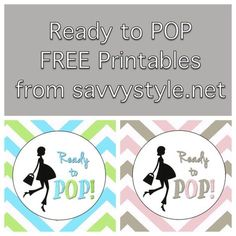 """Ready to Pop"" FREE printable download for a boy or girl baby shower! http://www.sweetwoodcreativeco.com/blog-posts/ready-to-pop-free-printables"