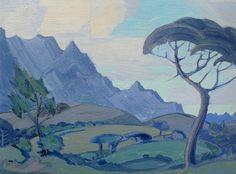 JH PIerneef - Stellenbosch Landscape