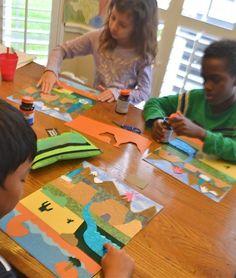 Landforms for Kids Art Project- Kid World Citizen
