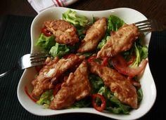 Fokhagymás csirkemellcsíkok, különleges panírban! Nagyon nagyon ízletes!!