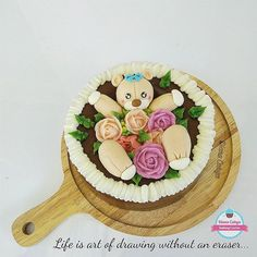 """"""" Life is art of drawing without an eraser """"  Have a great morning, everyone!  #DianaCahya #NoButtercream #GelatinoPipingFlower #GPFlo #Pudding #Jelly #Flower #Piping #NoMoulding"""