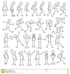 Stick figures collection with running, standing, waiting stick figures, and stic. Stick figures co Doodle Sketch, Doodle Drawings, Cartoon Drawings, Doodle Art, Easy Drawings, Stick Men Drawings, Cartoon Icons, Stick Figure Animation, Stick Figure Drawing