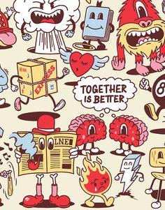 Cartoon Pattern on Behance 1930s Cartoons, Doodle Characters, Cartoon Letters, Donia, Character Design Animation, Badge Design, Vintage Cartoon, Cartoon Styles, Cartoon Drawings
