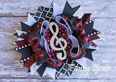 Music hair bow https://www.facebook.com/TheFancyBows