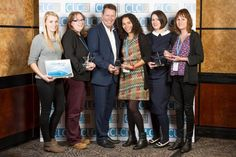 Winners of Charity Learning Awards 2015 with founder and chief executive of the Charity Learning Consortium, Martin Baker