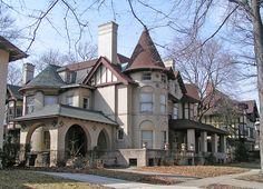 1903 Louis Kamper home in Indian Village, Detroit by DecoJim, via Flickr