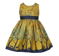 Forest Martha Dress in Mustard