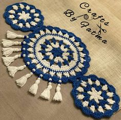 Crochet Table Runner Pattern, Crochet Placemats, Crochet Motif Patterns, Macrame Patterns, Crochet Designs, Crochet Doilies, Crochet Sunflower, Rose Tutorial, Crochet Hooks