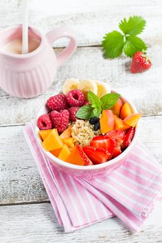 Breakfast Quinoa Bowl packed with fruits