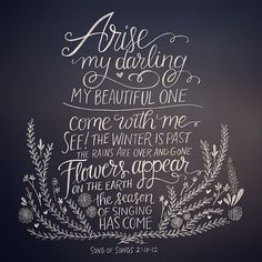 """""""Arise, my darling, my beautiful one…"""" Now is the season for stepping forth. He is calling you forth in Christian Women Quotes, Christian Life, Coming Song, Bible Study Lessons, Seasons Of Life, Faith Quotes, Lds Quotes, Sweet Words, Christian Inspiration"""