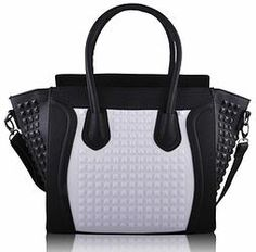 Monochrome Stud Handbag