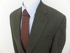 ANDREW FEZZA Men's Jacket HOUNDSTOOTH Sport Coat WOOL  Blazer 40 L Brown  #AndrewFezza #TwoButton