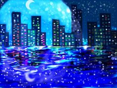 City at night  By Kinda