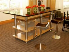 Good Using Two Sets Of Our Bar Height Table Legs, Some Laminate Board, And A