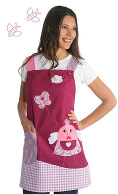 Estolas para Maestras, blouses pour maîtresses Sewing Kids Clothes, Sewing For Kids, Sewing Crafts, Sewing Projects, Pinafore Apron, Knitting Socks, Girl Outfits, Pattern, How To Wear