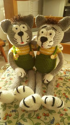 Crochet cat&cat