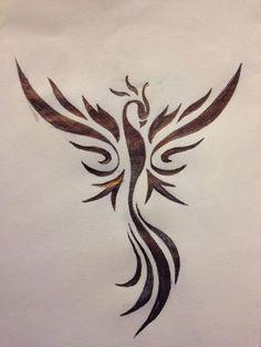 -   - #phoenixtattoo #prettytattoos #smalltattoo #tattoosleeve Tribal Phoenix Tattoo, Tribal Dragon Tattoos, Phoenix Tattoo Design, Phoenix Design, Tattoo Dragon And Phoenix, Rising Phoenix Tattoo, Phoenix Tattoo Feminine, Small Phoenix Tattoos, Small Tattoos
