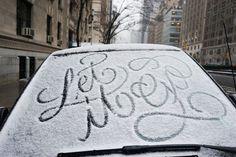 #typografia #lumi #snow #typo