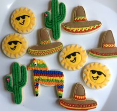 Mexican Fiesta Party Cookies