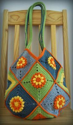 Popcorn Stitch Squares Bag