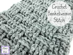 Learn to crochet the basketweave stitch with this easy to follow video and photo tutorial by Fiber Flux!