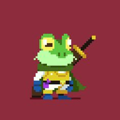 One of the greatest #frog s I know. #pixel_dailies #chronotrigger @Pixel_Dailies Game Design, Game Character Design, Chrono Trigger, Cool Pixel Art, Cool Art, Pixel Characters, 8bit Art, Pixel Design, Pixel Art Games