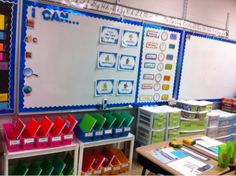 Teaching Happily Ever After: First day of school classroom layout.- This classroom is beautifully organized. Classroom Layout, Classroom Organisation, Teacher Organization, Teacher Tools, Kindergarten Classroom, School Classroom, Classroom Themes, Classroom Management, Folder Organization