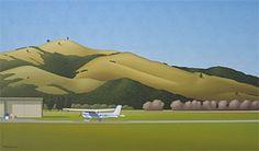 Brian Dahlberg // Whitianga Airport, 2008   #Art #Landscape #Oil #Painting #NewZealand