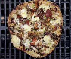 Magic Mushroom Medley Grilled Pizza by Fine Cooking