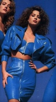 Christy Turlington & Tatjana Patitz for North Beach Leather 1987'