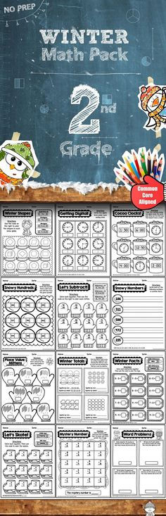 This 50 page Winter Math Pack requires NO PREP. All you need to do with this pack is hit print and go! (scheduled via http://www.tailwindapp.com?utm_source=pinterest&utm_medium=twpin&utm_content=post1170043&utm_campaign=scheduler_attribution)