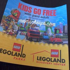 FREE CHILD TICKET to LegoLand Parks or Discovery Center (with Adult Ticket Purchase)