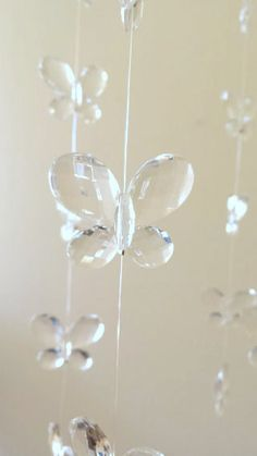Crystal Baby Mobile | Baby crib mobile. Butterfly Mobile for Girls. Dream catcher. Room ...