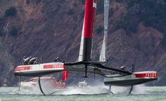 Luna Rossa vince la prima regata delle semifinali contro Artemis Racing | BLU : BLU