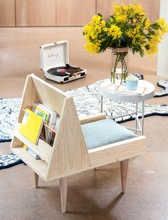 Fauteuil Living Room Furniture, Diy Furniture, Bois Diy, Daybed, Chair Design, Instagram, Wood, Juliette, Leroy Merlin