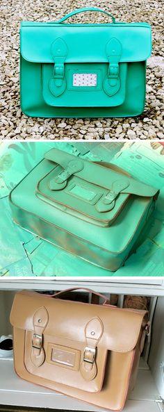 DIY Painted Satchel